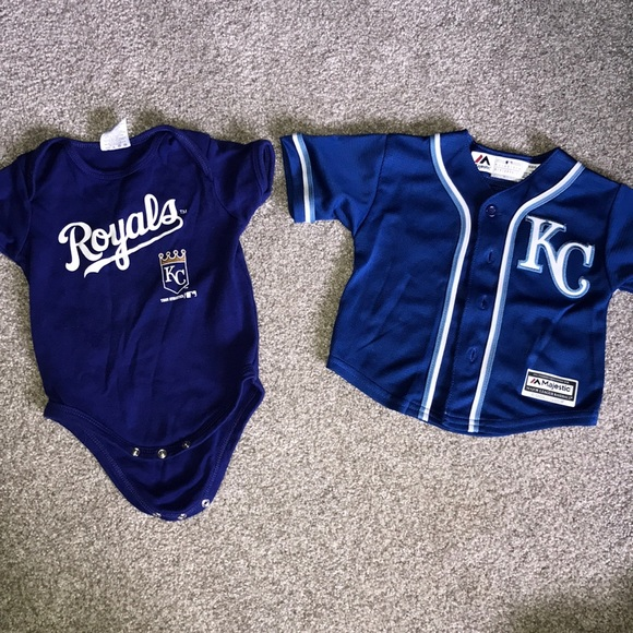 size 40 4db97 7045d Kansas City Royals boys onsie and shirt